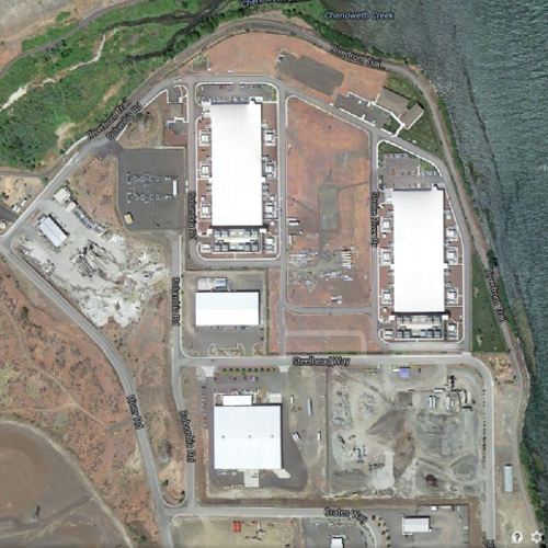 Google server farm Oregon. Screen grab from Google Maps by the author
